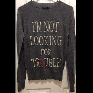 *NWOT* Forever 21 Gray Knit Sweater Small